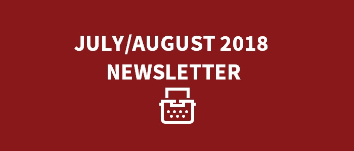 July/August 2018 Newsletter