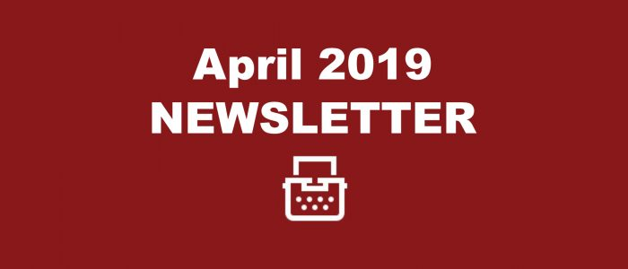 April 2019 Newsletter Image